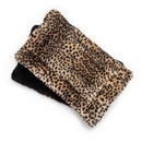 Mutts and Mittens FLFSLE Leopard Fur Plush Fabric Flat Pet Bed