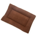 Mutts and Mittens FLSFBR Brown Solid Fleece Fabric Flat Pet Bed