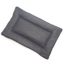 Mutts and Mittens FLSFCG Charcoal Gray Solid Fleece Fabric Flat Pet Bed