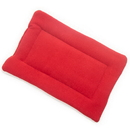 Mutts and Mittens FLSFR Red Solid Fleece Fabric Flat Pet Bed