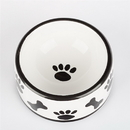 Creature Comforts JS Black & White Paws/Bones Ceramic Treat Jars