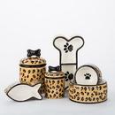 Creature Comforts LEO Leopard Ceramic Treat Jars