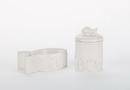 Creature Comforts M Meow Ceramic Fish Shaped Cat Bowl & Treat Jar