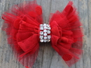 Diva Dog PARTYDRESSRED Party Dress Red Removable Dog Collar Bow