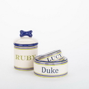Creature Comforts PER-PS Personalized Preppy Stripe Bowls & Treat Jars Collection*