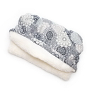 Mutts and Mittens POPFGM Gray Medallion Printed Fleece Fabric Pocket Pet Bed