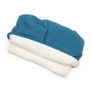 Mutts and Mittens POSFBL Blue Solid Fleece Fabric Pocket Pet Bed