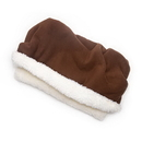 Mutts and Mittens POSFBR Brown Solid Fleece Fabric Pocket Pet Bed