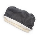 Mutts and Mittens POSFCG Charcoal Gray Solid Fleece Fabric Pocket Pet Bed