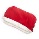 Mutts and Mittens POSFR Red Solid Fleece Fabric Pocket Pet Bed
