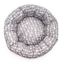 Mutts and Mittens ROCGS Gray Silhouette Cotton Fabric Round Pet Bed
