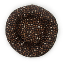 Mutts and Mittens ROCMP Muddy Paw Cotton Fabric Round Pet Bed