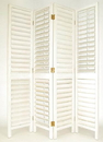 Wayborn 2243 Venetian Screen, 84'' x 72'' x 1'', Whitewash
