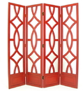 Wayborn 2295R Charleston Screen, 76'' x 72'' x 1'', China Red
