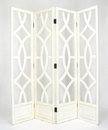 Wayborn 2295W Charleston Screen, 76'' x 72'' x 1'', Whitewash