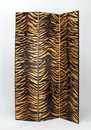 Wayborn 2302X Gold Leaf Zebra Screen, 72'' x 48'' x 1'', Blk/Gld