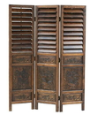 Wayborn 2317 Louver Screen, 72'' x 54'' x 1'', Walnut