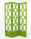 Wayborn 2395G Charleston Screen, 76'' x 54'' x 1'', Green