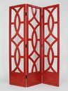 Wayborn 2395R Charleston Screen, 76'' x 54'' x 1'', China Red