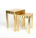 Wayborn 3109 Nest Table, Gold Leaf