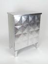 Wayborn 3127SV Double Door Cabinet, 32'' x 24'' x 14'', Silver Leaf