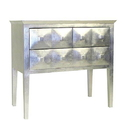 Wayborn 3132 Vanderbuilt 3 Drawer Chest, 29'' x 31'' x 16'', Silver Leaf