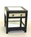 Wayborn 3525 Tanner Mirror Table, 20'' x 18'' x 18'', Black