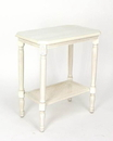 Wayborn 4164 Side Table With Shelf, 26'' x 22'' x 14'', Whitewash