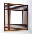 Wayborn 4820 Plantation Mirror, 40'' x 40'' x 1'', Brown