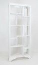 Wayborn 5416W Vertical Asian Storage Shelves, 32'' x 13.5'' x 78'', Whitewash