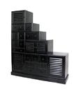 Wayborn 5575B Tonsu Step Cabinet, Ant. Black