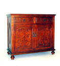 Wayborn 5638 Roman Cabinet, 33'' x 37'' x 17'', Honey Brown