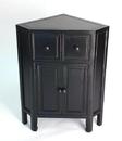 Wayborn 5652B Suchow Corner Cabinet, Ant. Black