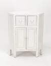 Wayborn 5652W Suchow Corner Cabinet, 30'' x 23.75'' x 16'', Whitewash