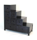 Wayborn 5653B Suchow Reversible Step Chest, 32'' x 32'' x 14'', Ant. Black
