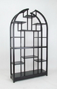 Wayborn 5704B Etagere Display Unit, 40'' x 12'' x 72'', Ant. Black