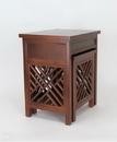 Wayborn 5717-AB Lattic Nesting Tables, 20.5'' x 16'' x 24'', Brown