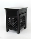 Wayborn 5717B-AB Lattic Nesting Tables, 20.5'' x 16'' x 24'', Black