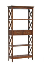 Wayborn 9106 Eiffel Book Case, 75'' x 35.5'' x 14'', Brown