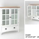Wayborn 9122W Bookcase W/Glass Door, 47'' x 37'' x 14.5'', White