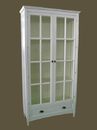 Wayborn 9124W Bookcase W/Glass Door, White