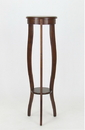 Wayborn 9138 Pedestal Table, 11.5'' x 11.5'' x 39.5'', Brown