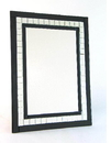Wayborn MR302 Black Diamond Cut Mirror, 31.5'' x 23.5'' x 0.625''