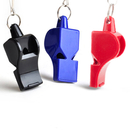 GOGO 10 Pcs Sport Referee Classic Whistle Plastic Pea-Less Safety Whistle, 3 Colors Available