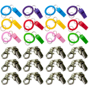 GOGO 12 PCS Spiral Keychain Whistles & 12 PCS Metal Whistle With Swivel Lobster Clasp Party Favors