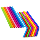 Aspire 16 PCS Reusable Straws with 2 PCS Cleaning Brush Replacement Drinking Straws Birthday Fit for Mason Jar Yeti Tumbler Party Supplies