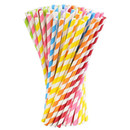 Aspire 250 PCS Biodegradable Paper Drinking Straws for Party Suppliers Birthday Bridal Baby Shower Wedding Decorations