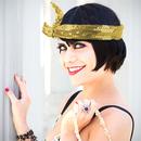 Calypso Studios Glitz Bendi Sequin Wire Headband, Gold