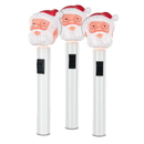 Classic Santa Molded Head Flashlight - Set of 3
