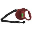 PAW Bio Retractable Leash with Green Pick-up Bags, Red